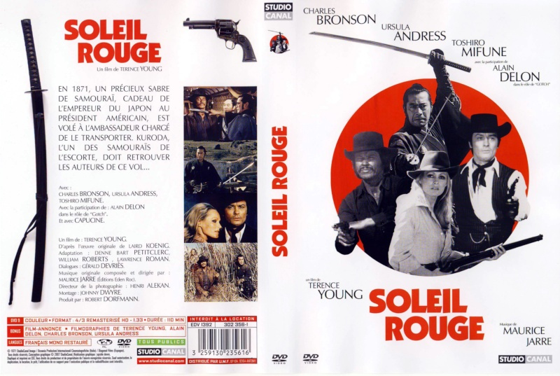 Ursula Andress, Charles Bronson, Alain Delon, and Toshirô Mifune in Soleil rouge (1971)