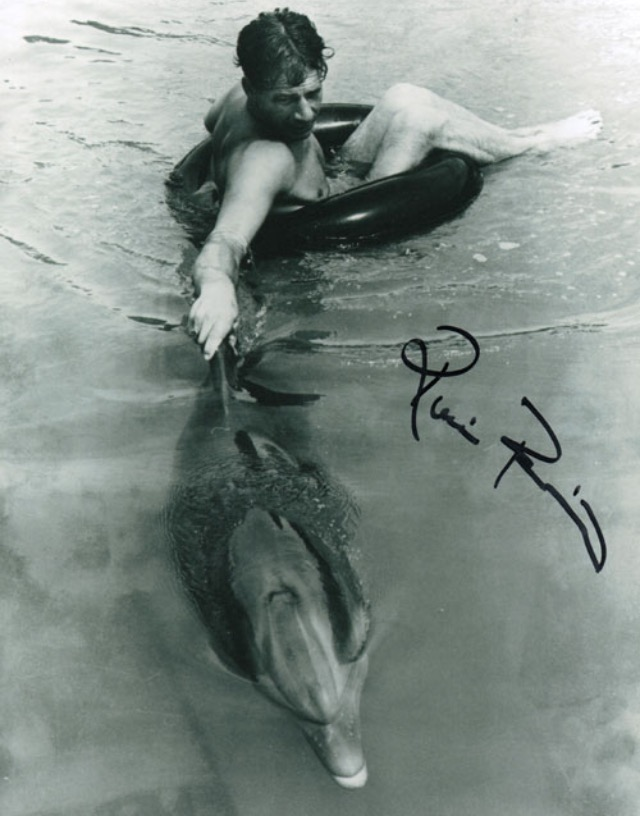 Ricou Browning and Flipper in Flipper (1964)