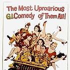 Robert Mitchum, Joe Flynn, Martha Hyer, France Nuyen, Louis Nye, and Jack Webb in The Last Time I Saw Archie (1961)