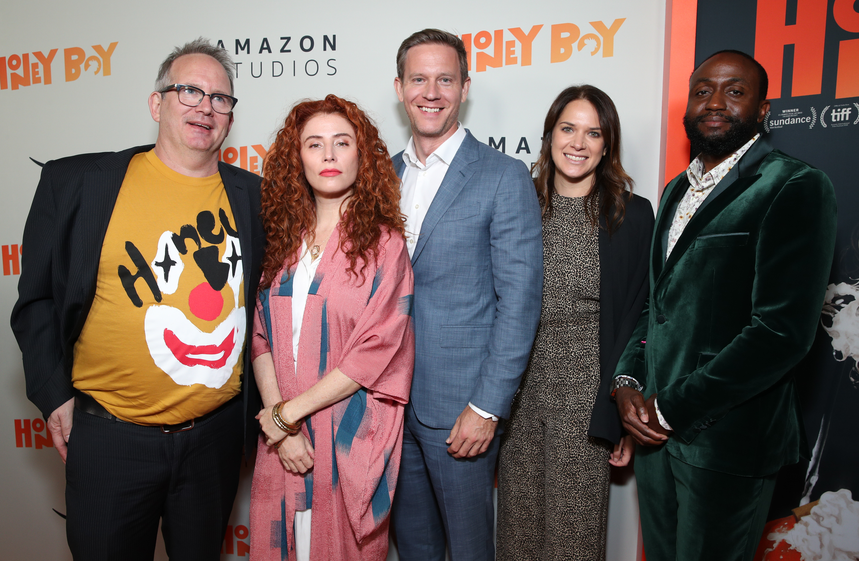 Ted Hope, Byron Bowers, Alma Har'el, Julie Rapaport, and Matt Newman at an event for Honey Boy (2019)