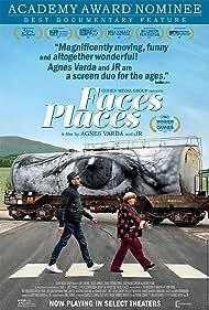 Jean-Luc Godard, Agnès Varda, and JR in Visages villages (2017)