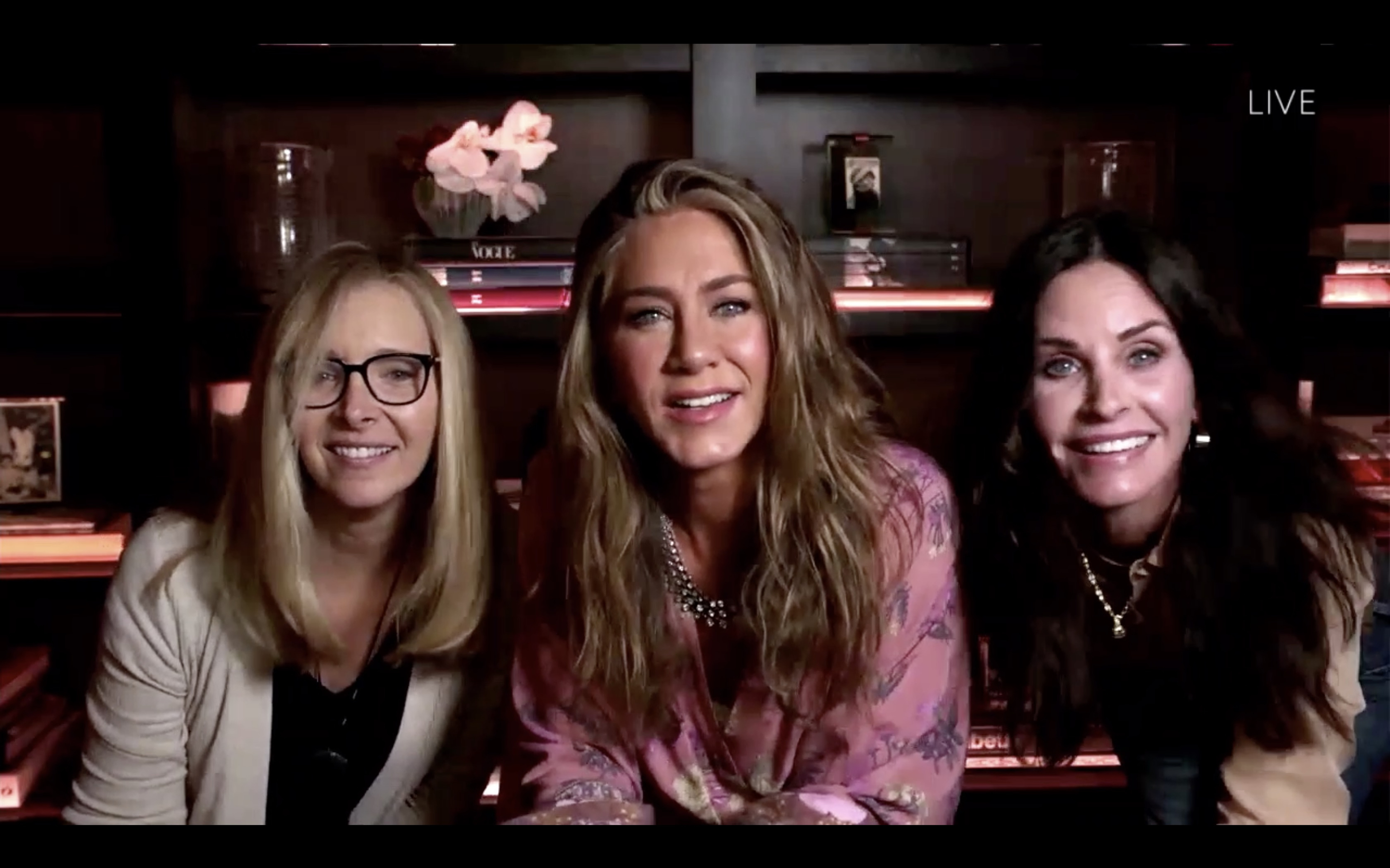 Jennifer Aniston, Courteney Cox, and Lisa Kudrow at an event for The 72nd Primetime Emmy Awards (2020)