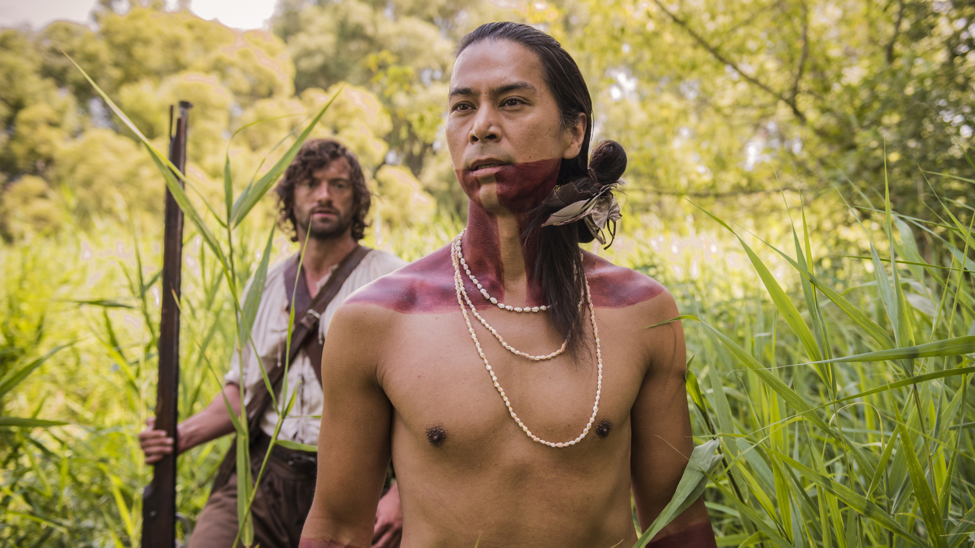 Kalani Queypo and Stuart Martin in Jamestown (2017)