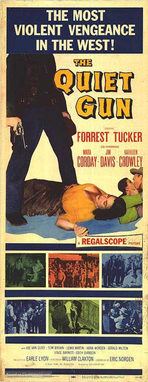 Lee Van Cleef, Tom Brown, Mara Corday, Kathleen Crowley, Jim Davis, and Forrest Tucker in The Quiet Gun (1957)