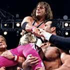Pat Patterson, Scott Hall, Bret Hart, and Larry Pfohl in WrestleMania X (1994)
