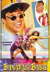 Shakti Kapoor, Govinda, Kader Khan, and Ramya Krishnan in Banarasi Babu (1997)