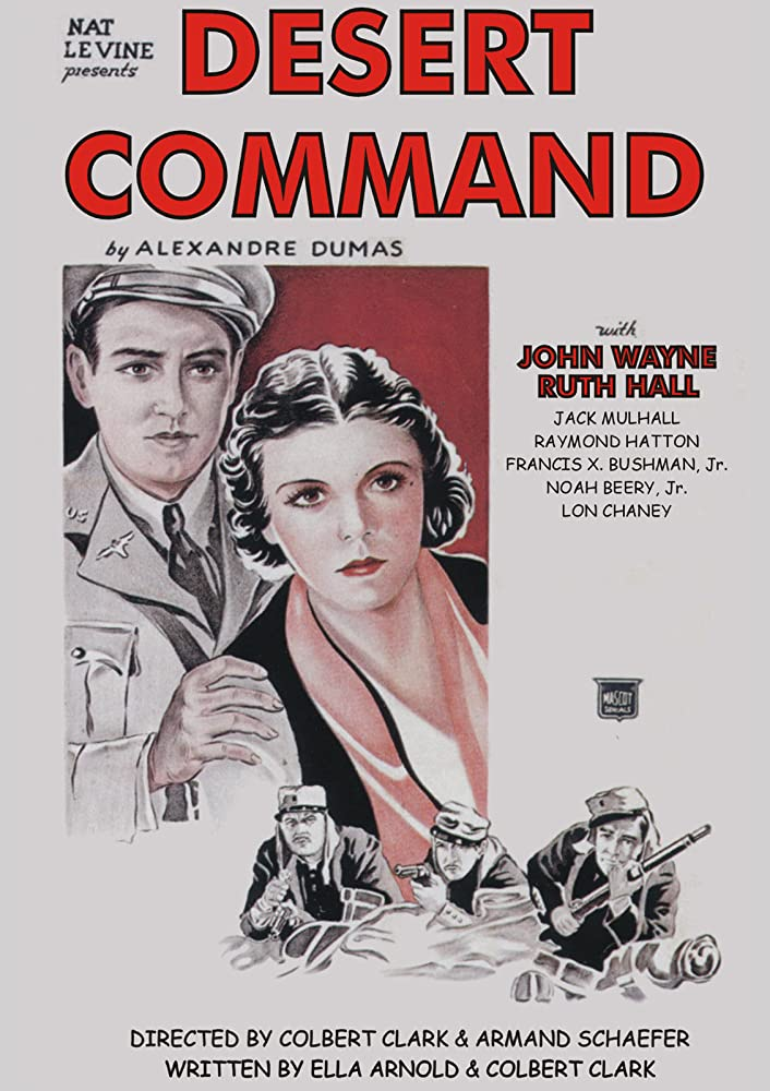 John Wayne and Ruth Hall in Desert Command (1946)