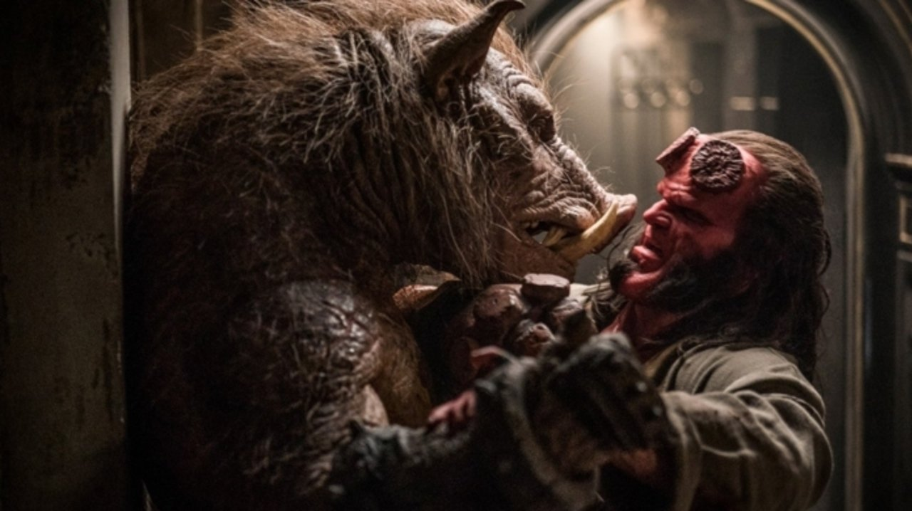 David Harbour and Douglas Tait in Hellboy (2019)