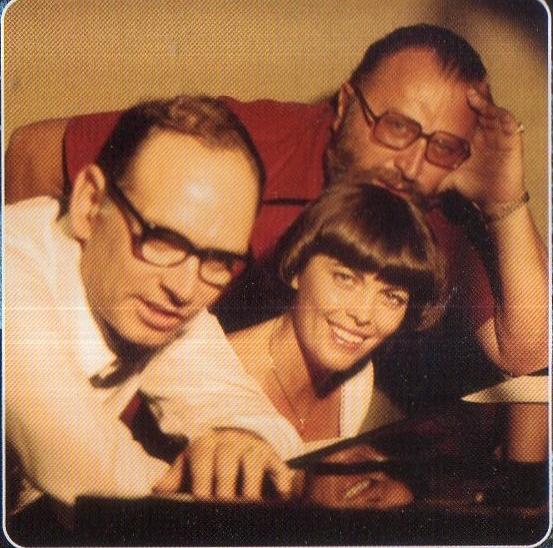 Sergio Leone, Ennio Morricone, and Mireille Mathieu