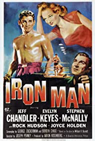 Jeff Chandler, Evelyn Keyes, and Stephen McNally in Iron Man (1951)