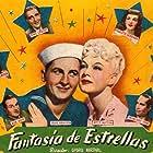 Veronica Lake, Bing Crosby, Bob Hope, Paulette Goddard, Eddie Bracken, Dorothy Lamour, and Franchot Tone in Star Spangled Rhythm (1942)