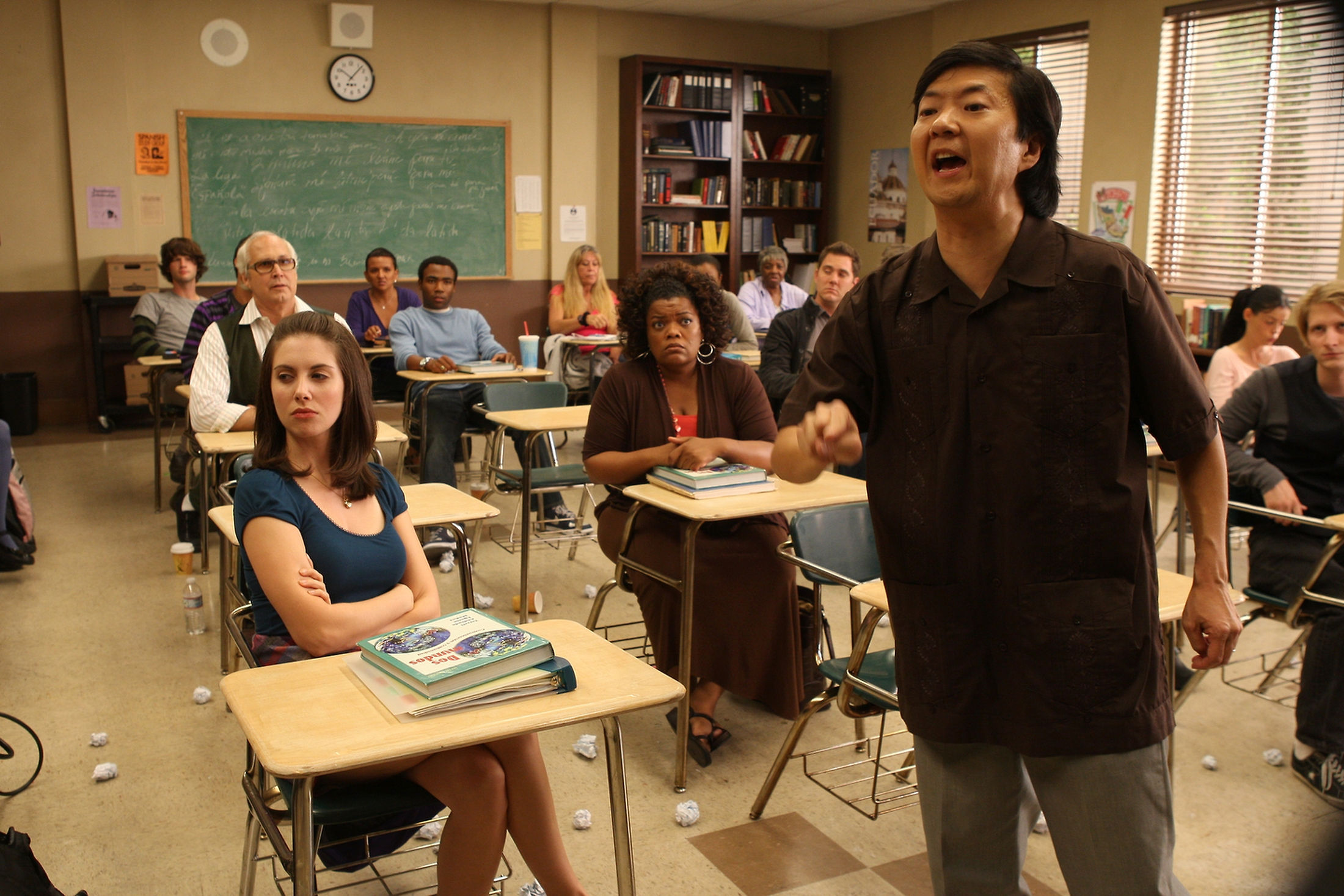 Chevy Chase, Ken Jeong, Yvette Nicole Brown, Alison Brie, and Donald Glover in Community (2009)