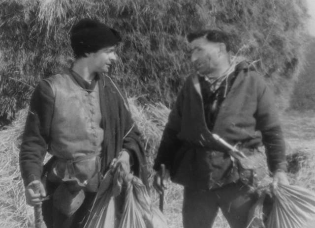 Marcel Pérès and Serge Reggiani in François Villon (1945)