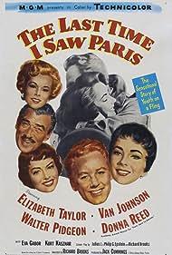 Elizabeth Taylor, Eva Gabor, Donna Reed, Van Johnson, and Walter Pidgeon in The Last Time I Saw Paris (1954)