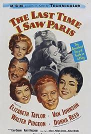 The Last Time I Saw Paris(1954) Poster - Movie Forum, Cast, Reviews