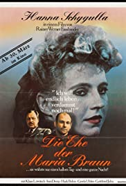 The Marriage of Maria Braun (1979) Poster - Movie Forum, Cast, Reviews