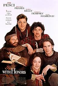 Brendan Fraser, Joe Pesci, Patrick Dempsey, Josh Hamilton, and Moira Kelly in With Honors (1994)