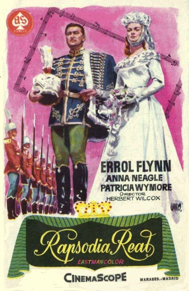 Errol Flynn and Anna Neagle in King's Rhapsody (1955)