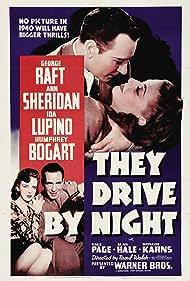 Humphrey Bogart, Ida Lupino, George Raft, and Ann Sheridan in They Drive by Night (1940)