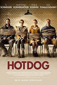 Til Schweiger, Matthias Schweighöfer, Anne Schäfer, and Lisa Tomaschewsky in Hot Dog (2018)