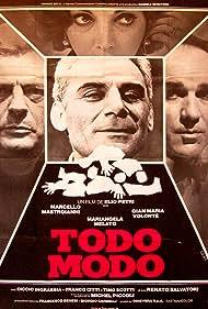 Marcello Mastroianni, Gian Maria Volontè, and Mariangela Melato in Todo modo (1976)