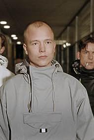 Torben Guldberg, Ken Vedsegaard, and Mads Wille in Sort, Hvid & Grå (2000)