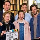 Martin Brambach, Richard Ulfsäter, Anna Blomeier, Meike Droste, and Sebastian Schwarz in Frau Temme sucht das Glück (2017)