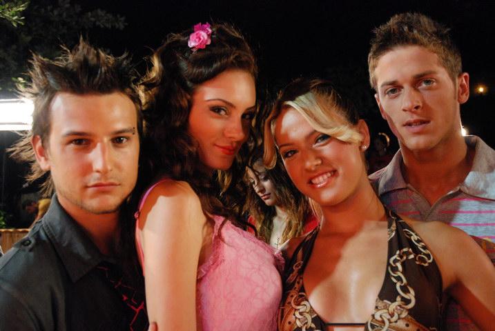 Ceyda Ates, Firat Çöloglu, and Alp Çoker in Çilgin Dersane Kampta (2008)