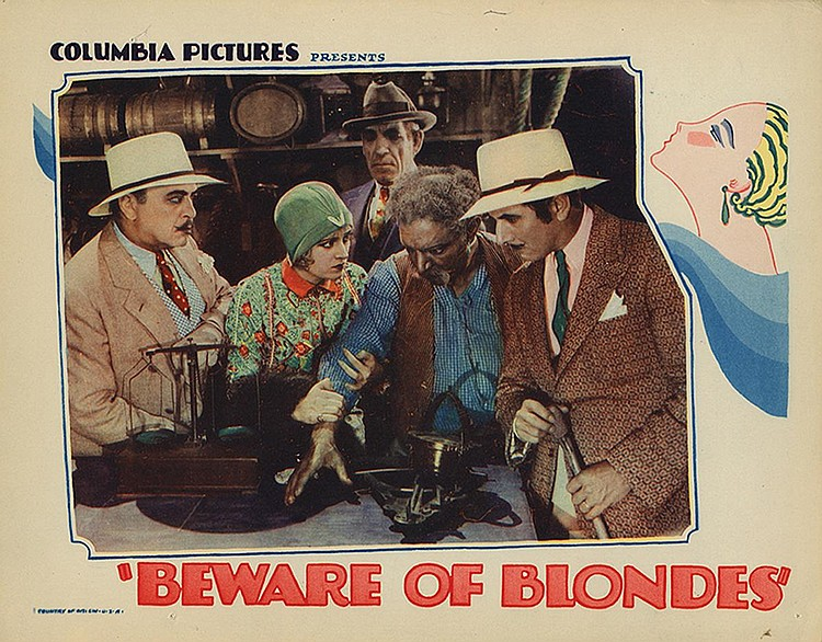 Roy D'Arcy, Robert Edeson, Walter P. Lewis, Dorothy Revier, and Harry Semels in Beware of Blondes (1928)
