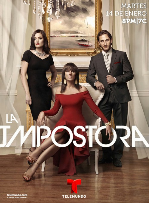 Christian Bach, Lisette Morelos, and Sebastián Zurita in La Impostora (2014)