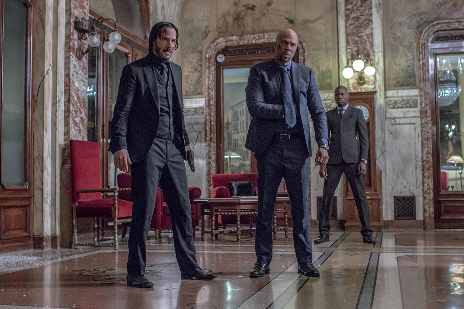 Keanu Reeves and Common in John Wick: Chapter 2 (2017)