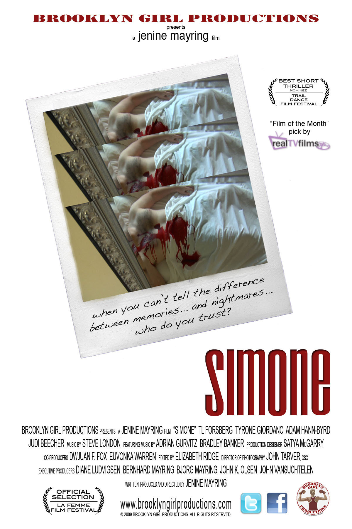 Official Movie Poster for SIMONE