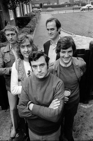 John Cleese, Graham Chapman, Eric Idle, Terry Jones, Michael Palin, and Monty Python