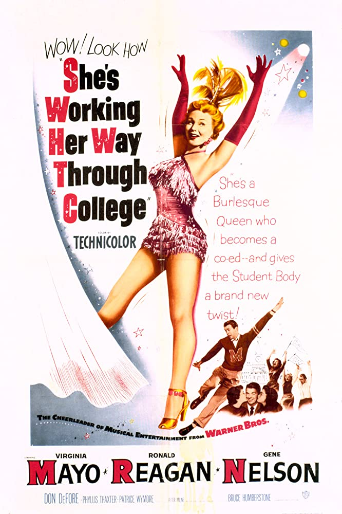 Virginia Mayo and Gene Nelson in She's Working Her Way Through College (1952)
