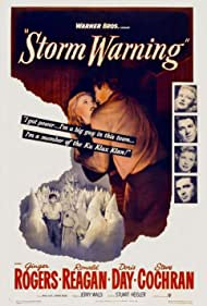 Ronald Reagan, Ginger Rogers, and Steve Cochran in Storm Warning (1951)