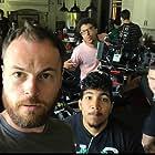 Andy Hodgson, Christopher O'Brien, Heraldo Abreu, and Kyle Vollstaedt in The Mistletoe Inn (2017)