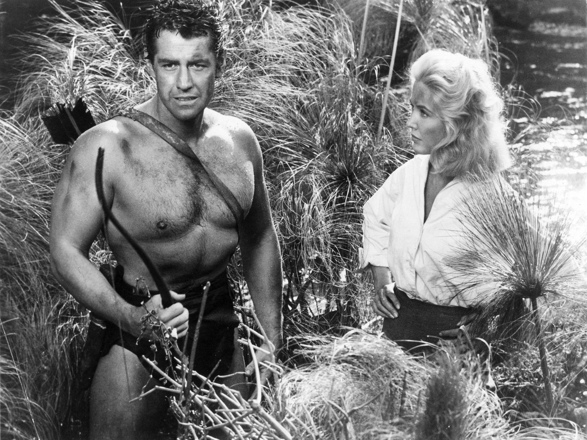 Gordon Scott and Sara Shane in Tarzan's Greatest Adventure (1959)