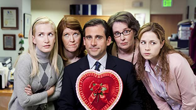 Steve Carell, Jenna Fischer, Kate Flannery, Phyllis Smith, and Angela Kinsey at an event for The Office (2005)