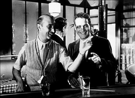 """""""A New Kind Of Love,"""" Paul Newman with Producer/ Director Melville Shavelson on the set. 1963 Paramount"""