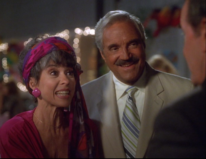 Rita Moreno and Hal Linden in The Rockford Files: If It Bleeds... It Leads (1999)