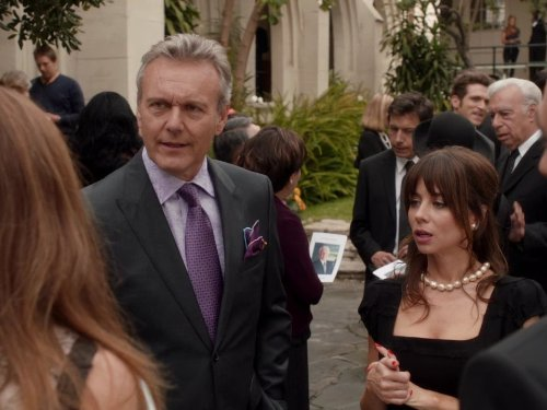 Anthony Head and Natasha Leggero in Free Agents (2011)