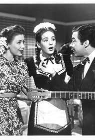 Rosina Pagã, Rosita Quintana, and Germán Valdés in Calabacitas tiernas (1949)