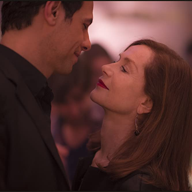 Isabelle Huppert and Laurent Lafitte in Elle (2016)