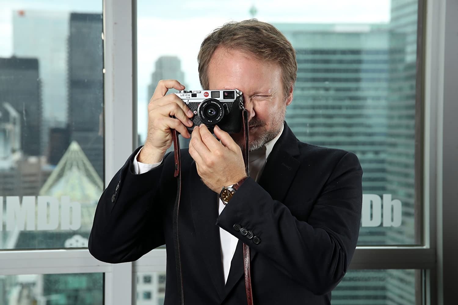 Rian Johnson at an event for Knives Out (2019)