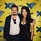 Davie-Blue and Linas Phillips at the MANSON FAMILY VACATION premiere
