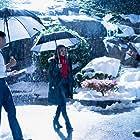 Rachael Leigh Cook, David Winning, and Benjamin Ayres in A Blue Ridge Mountain Christmas (2019)