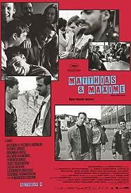 Xavier Dolan, Pier-Luc Funk, Antoine Pilon, Adib Alkhalidey, Gabriel D'Almeida Freitas, and Samuel Gauthier in Matthias et Maxime (2019)