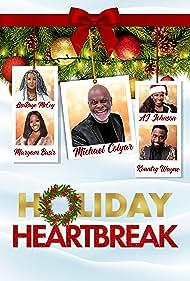 Michael Colyar, A.J. Johnson, LisaRaye McCoy, Maryam Basir, and Wayne Colley in Holiday Heartbreak (2020)