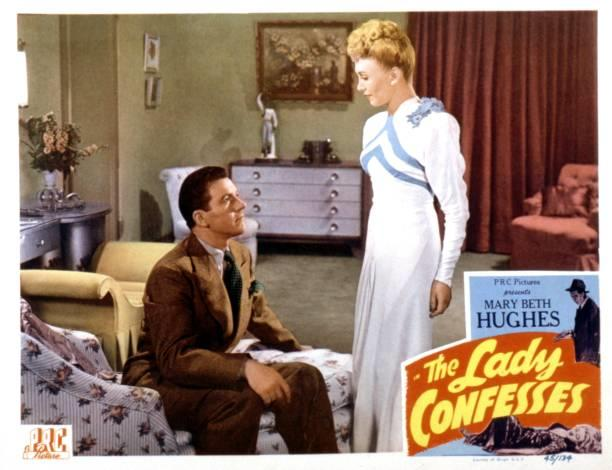 Hugh Beaumont and Claudia Drake in The Lady Confesses (1945)