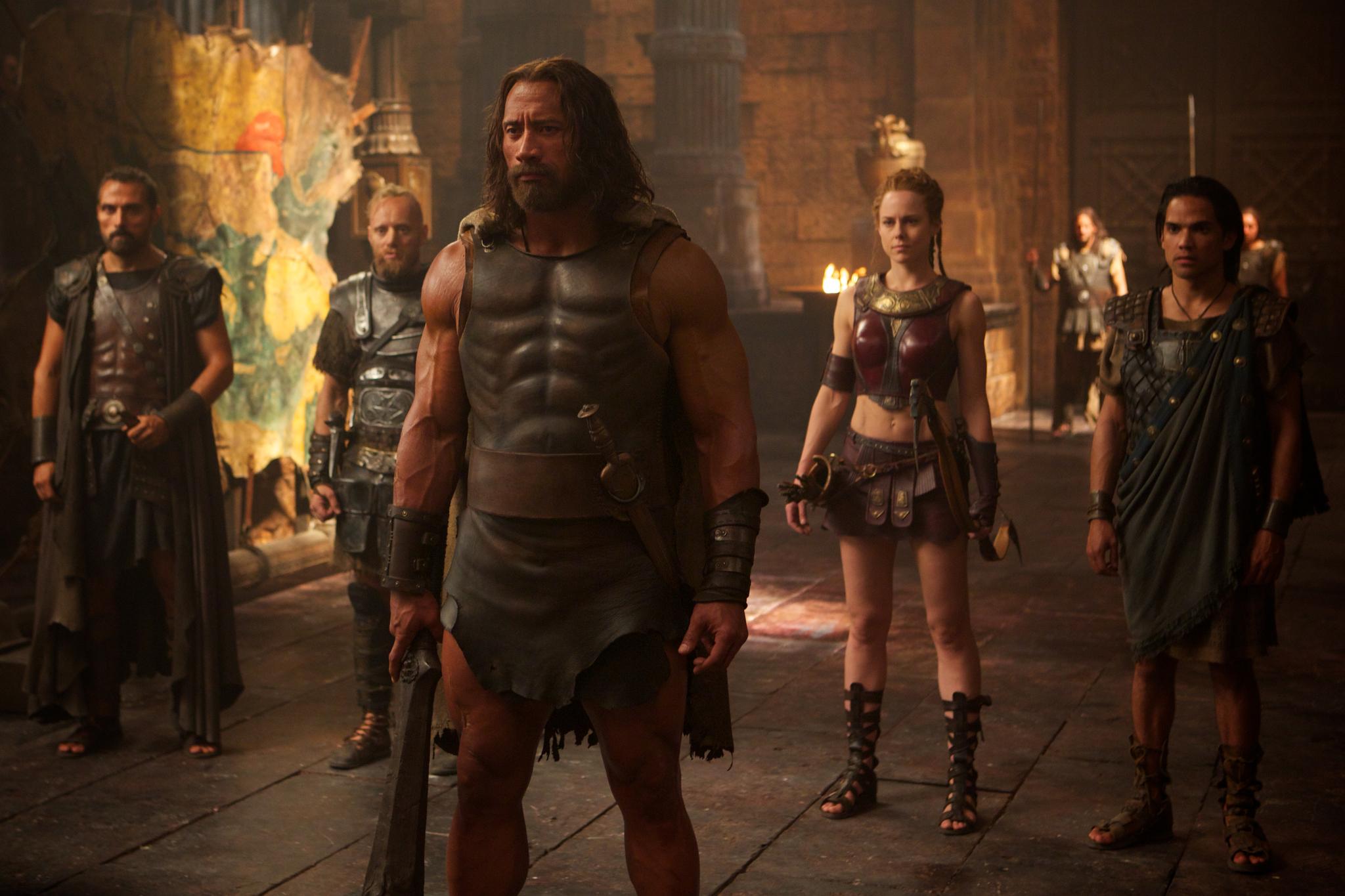 Rufus Sewell, Aksel Hennie, Dwayne Johnson, Ingrid Bolsø Berdal, and Reece Ritchie in Hercules (2014)
